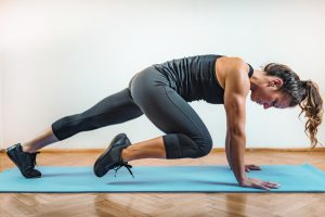 High Intensity Interval Training Workout Indoors