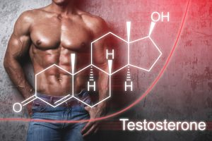 Muscular male body and testosterone hormone formula